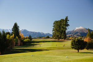 Looking back down the first - Wanaka Golf Club