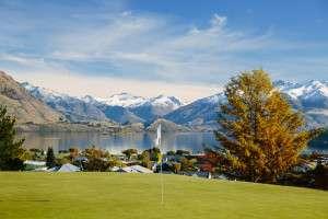 Stunning views over Lake Wanaka - Otago Golf