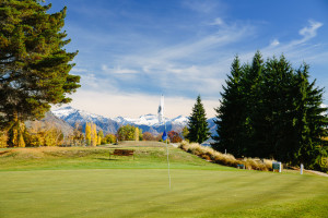 Standing on the 7th Green - Wanaka Golf Queenstown Lakes
